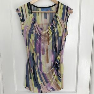 Vera Wang Multicolor Sleeveless Top